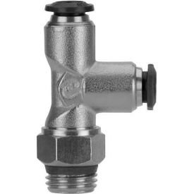 "Alpha Fittings Swivel Run Tee 50225N-8-3/8, 8mm Tube x 3/8"" BSPP Thread - Pkg Qty 5"