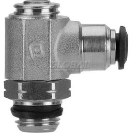 "Alpha Fittings Flow Control 50901N-4-1/8, Screw Adj, Flow Out, 4mm, 1/8"" Swift-Fit Universal Thread - Pkg Qty 2"