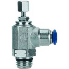 "Alpha Fittings Needle Valve 50925N-10-1/4, Knob Adj, Flow Bi-Direc, 10mm, 1/4""Swift-Fit Universal - Pkg Qty 2"