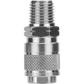 "Alpha Fittings 1/4"" Ac Mini Coupler X 3/8"" Male Nptf, 80111-06 - Min Qty 9"