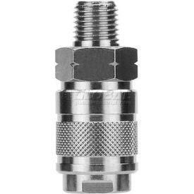 "Alpha Fittings 1/4"" Industrial Coupler X 1/4"" Male Nptf, 80121-04 - Min Qty 7"