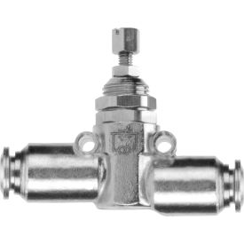 """Alpha Fittings Inline Flow Control, 82815-04, 1/4"""" Tube, Nickel Plated Brass"""
