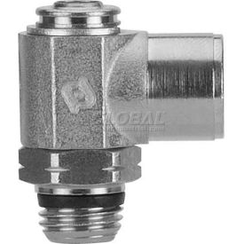 "Alpha Fittings Female Flow Control 88952-06-06, Screw Adj, Flow Out 3/8"" NPTF Female x 3/8"" SwiftFit - Pkg Qty 2"