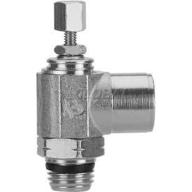 "Alpha Fittings Female Flow Control 88957-02-02, Knob Adj, Flow Out 1/8"" NPTF x 1/8"" Swift-Fit - Pkg Qty 2"