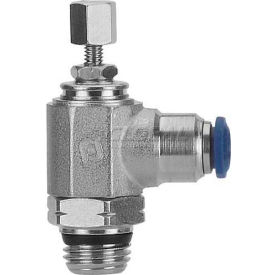 "Alpha Fittings Flow Control 88958-04-04, Knob Adj, Flow Out, 1/4"" Tube x 1/4"" Swift-Fit Universal - Pkg Qty 2"