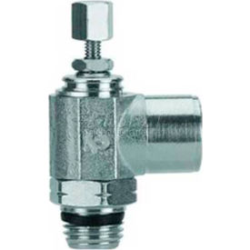 "Alpha Fittings Female Flow Control 88967-04-04, Knob Adj, Flow In 1/4"" NPTF x 1/4"" Swift-Fit Univ - Pkg Qty 2"