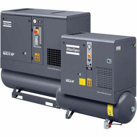 Atlas Copco Rotary Screw Air Compressor GX11P-125270TRI-V60TM, 208/230/460V, 15HP, 3PH, 80 Gal