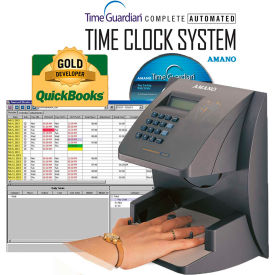 Amano Time Guardian Automated Time Clock Hand Punch System, Gray, HP-1000/A164 by