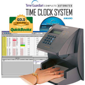 Amano Time Guardian Automated Time Clock Hand Punch System, Gray, HP-3000E/A167 by