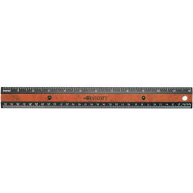 "12"" Faux Wood Inlay Ruler With Microban Protection Package Count 12 by"