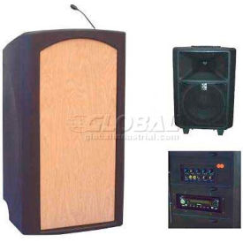 Summit™ Freedom Lectern, Black Shell/Maple Front Insert