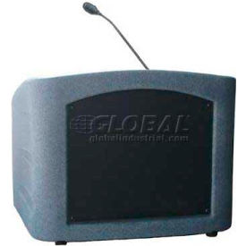 Summit™ Integrator Desktop Lectern, Gray Granite Shell/Black Marble Front Insert