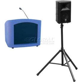 Summit™ Presenter Desktop Lectern, Purple Granite Shell/Maple Front Insert