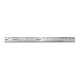 "Westcott® Stainless Steel Ruler with Non Slip Cork Base, 18"" Long, 1 Each"
