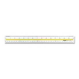 """Westcott® Data Highlight Ruler, 15"""" Long, Acrylic, Clear"""