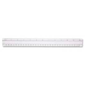 "Westcott® Magnifying Ruler, 12"" Long, Glass, Clear"