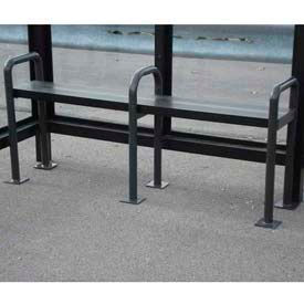 Anti Vagrant Bench for 12' Shelter, Bronze
