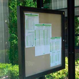 "Weather Resistant Bulletin and Schedule Holder Bronze 18"" x 24"""