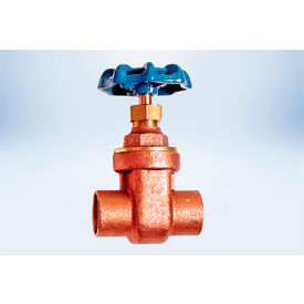 American Valve 1 In. Lead-Free Brass Full Pattern Gate Valve - Solder Ends - Pkg Qty 10