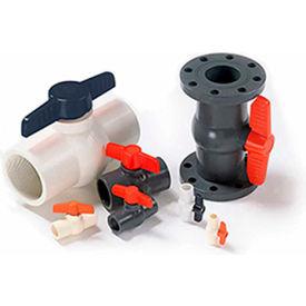 American Valve 1/2 In. PVC 1-Piece Ball Valve - Sche. 40 - 150 PSI - Socket - Pkg Qty 30