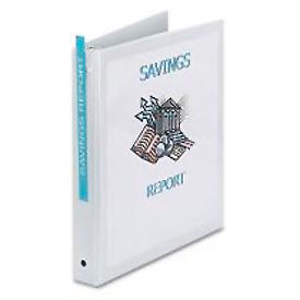 """Economy Reference View Binders, 1"""" Capacity, White"""
