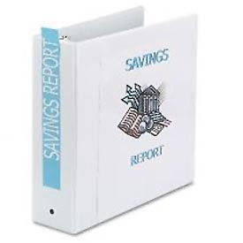 "Economy Reference View Binders, 3"" Capacity, White"