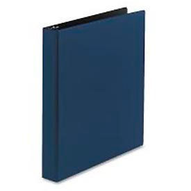 "Durable Round Ring Reference Binder For 11X8-1/2 Sheets, 1"" Capacity, Blue"