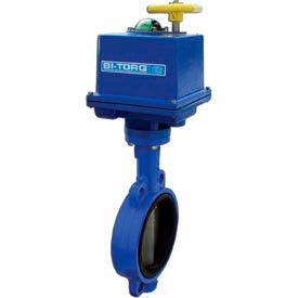 """2.5"""" Wafer Style Butterfly Valve W/ EPDM Seals and NEMA 4 115VAC Electric/4-20mA"""