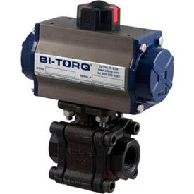 "BI-TORQ 1"" 3-Pc WCB/SS NPT Fire Safe Ball Valve W/NEMA 4 115VAC/4-20mA Positioner"