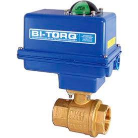 "BI-TORQ 1-1/4"" 2-Pc Brass NPT Ball Valve W/NEMA 4 115VAC/4-20mA Positioner"