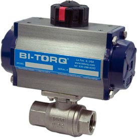 "BI-TORQ 2"" 2-Pc SS NPT Ball Valve W/Dbl. Acting Pneum. Actuator"