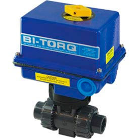 "BI-TORQ 3/4"" 3-Way CPVC Ball Valve W/ NEMA 4 115VAC"