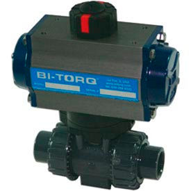 "1.25"" 2-Way CPVC Ball Valve W/Dbl. Acting Pneum. Actuator"