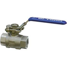 "3/4"" 2-Pc SS NPT Ball Valve With Manual Locking Handle"