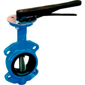 "2.5"" Wafer Style Butterfly Valve W/ Viton Seals and 10 Position Handle"