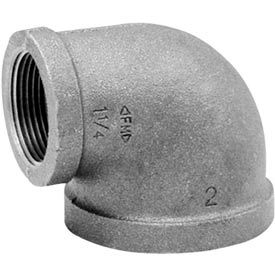 Anvil 1-1/2 In. X 1-1/4 In. Extra Heavy Black Malleable 90 Elbow