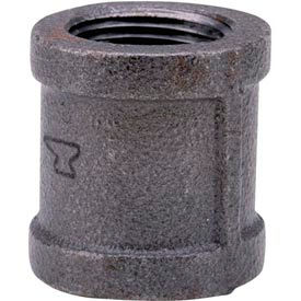 Anvil 1-1/2 In. Extra Heavy Black Malleable Coupling