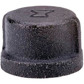 Anvil 1 In. Extra Heavy Black Malleable Cap