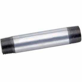 1 In X 6 In Galvanized Steel Pipe Nipple 150 PSI Lead Free