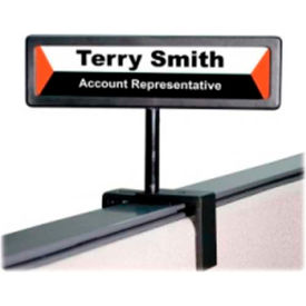 """Advantus Nameplate Cubicle Sign 13/16"""" x 4"""" Black by"""