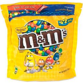 M&M Peanut Candy, Chocolate, 42 Oz