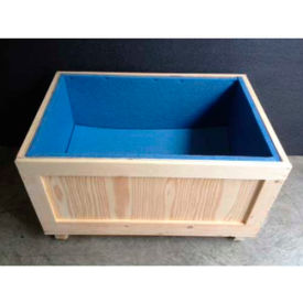 """Wood Crate With 1"""" Polyethylene Foam Lining Two-Way Entry, 48"""" L x 24"""" W x 30"""" H"""