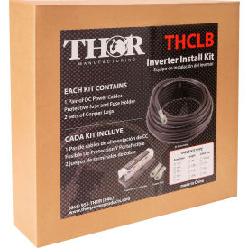 THOR THFBCBL10FT1/0, 1/0 AWT Install Kit-Set of 10 Foot 1/0 DC cables with ANL Fuse and Block