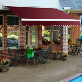 "Awntech DM20-60-B, Retractable Awning Manual 20'W x 10'D x 10""H Burgundy"