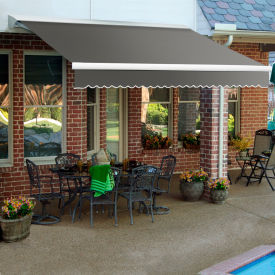 "Awntech DM8-67-G, Retractable Awning Manual 8'W x 7'D x 10""H Gray"