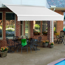 """Awntech DTR18-65-W, Retractable Awning Right Motor 18'W x 10'D x 10""""H Off White"""