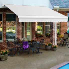 """Awntech KWL18-W, Retractable Awning Left Motor 18'W x 10""""D x 10""""H Off White"""