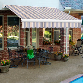 "Awntech KWM14-374-DBM, Retractable Awning Manual 14'W x 10'D x 10""H Dusty Blue"
