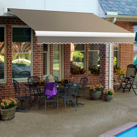 """Awntech KWM18-198-TP, Retractable Awning Manual 18'W x 10'D x 10""""H Taupe"""