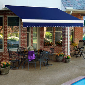 """Awntech KWR18-77-N, Retractable Awning Right Motor 18'W x 10'D x 10""""H Color Navy"""